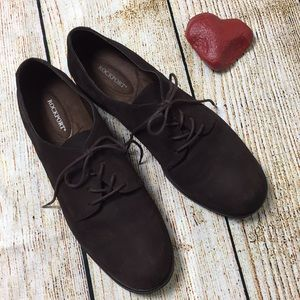 Rockport suede lace-up oxfords